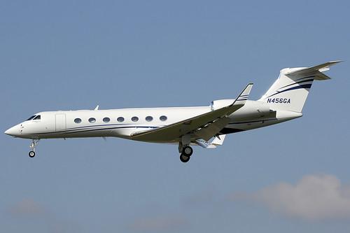 airplanes avions nikon d300 bcn lebl barcelona elprat gulfstream g550 gv gulfstreamv n456ga