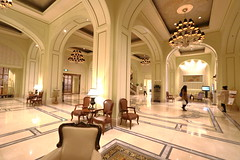Astor Hotel Tianjin - lobby in river facing building (Bruce in Beijing) Tags: tianjin astorhotel history heritage hotel hospitality legend icon building design historicpreservation concessionarea lobby reception furnishings glitz classical luxury