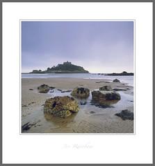 St Michael's Mount - Marazion, Cornwall (Joe Rainbow) Tags: stmichaelsmount cornwall landscape beach seascape marazion rocks velvia50 film mamiyarz67proii 6x6