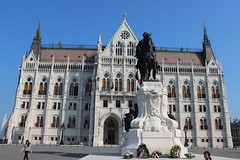 Gyula Andrássy equestrian statue in front the Hungarian Parliament building, Budapest, Hungary (Buster&Bubby) Tags: budapest hungary countgyulaandrássy gyulaandrássy parliamentbuildings