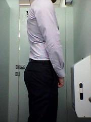 Bathroom butt selfie (jeremy.jay1231) Tags: bubblebutt manass dresspants
