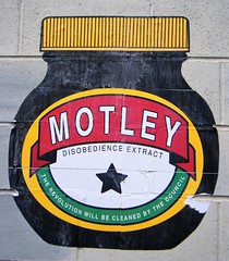Street Art, Manchester, imitating marmite bottle - motley disobedience extract (rossendale2016) Tags: an replica similar purporting motley council by cleaned revolution extract disobedience bottle marmite imitating art street manchester clever imitation artwork iconic artistic generic copy statement quirky original funny humourous brown jar bovril meat spread vegamite english australian equivalent acquired taste beef concentrated cooking spreading toast butter margerine margarine dry tasty equivical favourite savoury british mars bitter animal vegetable lovely cheap malt like treacle consistancy knife spoon tongue tangy another alternative source energy calories sugar