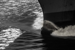 Ship's Bow 7 (OneEighteen) Tags: ship bow blackandwhite bw wave turbulence abstract movement
