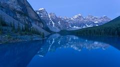 I Spot Something ... Blue (Ken Krach Photography) Tags: lakemoraine banffnationalpark