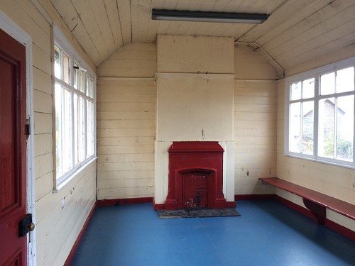 Haltwhistle Station waiting room