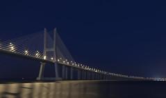 The Vasco da Gama Bridge (olegfilatov) Tags: река мост васкодагама португалия лиссабон
