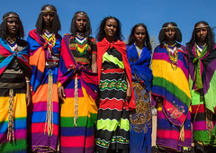 Borana tribe virgin girls during the Gada system ceremony, Oromia, Yabelo, Ethiopia (Eric Lafforgue) Tags: africa africanculture anthropology beautifulpeople boran borana borena celebration colorful colourpicture culturalheritage curly eastafrica ethiopia ethiopia0317365 ethiopians females festival gaada gada gadasystem gadaa girls groupofpeople hair hairstyle horizontal hornofafrica jewelry line lookingatcamera maidens oromia oromiya oromo oromya outdoors teenagers togetherness tribalculture tribe unesco virgin virgins yabello yabelo youngwomen et