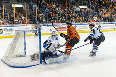 "Missouri Mavericks vs. Wichita Thunder, March 25, 2017, Silverstein Eye Centers Arena, Independence, Missouri.  Photo: © John Howe / Howe Creative Photography, all rights reserved 2017. • <a style=""font-size:0.8em;"" href=""http://www.flickr.com/photos/134016632@N02/33659857666/"" target=""_blank"">View on Flickr</a>"