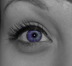 through my eyes (_ashleighmarie) Tags: blue color eye love photoshop photography eyes mine pretty purple heart edited blueeyes makeup yay blah meow splash hehe colorsplash