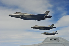 F-35 aerial refuel (Official U.S. Air Force) Tags: aircraft military airforce jointstrikefighter eglin aetc eglinafb marcharb aerialrefueling f35lightningii f35a 58fs 33fw 58thfightersquadron 452ndairmobilitywing 33rdfighterwing 336thairrefuelingsquadron