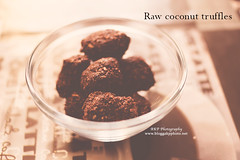 Chocolate coconut truffles (l AKP Photography) Tags: food beautiful photography coconut chocolate beautifullight foodporn matte truffles foodlove akpphotography bloggakpphoto