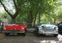 1963 SUNBEAM ALPINE - 1962 AUSTIN HEALEY 3000 (shagracer) Tags: classic cars sports car big soft open top group convertible alpine vehicle british 100 3000 rag sunbeam healeys austinhealey rootes 1006 dmy361a 456hfu