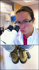149.365 another day in the office (charlottehbest) Tags: collage portraits work diptych lab 365 microscope scientist day149 selfies project365 365days 2013 149365 charlottehbest 3652013