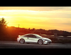 (Andrew Barshinger Photography) Tags: auto sunset summer car canon silver eclipse natural 85mm automotive clean 7d flare f18 mitsubishi dsm strobe sunflare enkei 2g 430ex