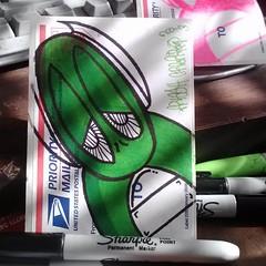 008b5c3ce37d11e28b1f22000a9f14a7_7 (FRESHGRAFFFITIT707) Tags: street streetart green art graffiti sticker artist stickers fresh slap graff trade slaps hmu