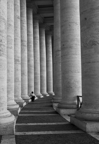 Refuge in the Colonnade by Lawrence OP, on Flickr