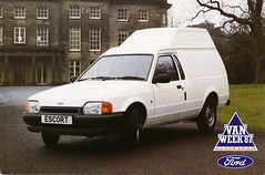 1987 Ford Escort Van with SVO High-Roof Option