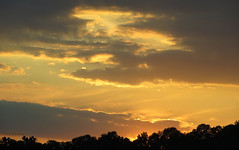 Golden Rimmed Clouds (rcvernors) Tags: sunset sky yellow clouds treesilhouette evening atmosphere westvirginia cloudysky almostheavenwestvirginia wildwonderfulwestvirginia rcvernors wvsunset rickchilders goldenrimmedclouds