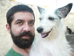 Elsa and me (Miguel Andrade) Tags: dog pet me eu perro cachorro elsa miguelandrade