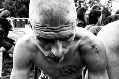 at the fest II (Olafs Osh) Tags: bw music white man black festival tattoo drunk punk skin latvia fest skinhead kekava