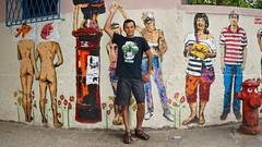 Ipanema streets (alobos Life) Tags: boy brazil guy art colors rio brasil de amigo calle friend paint janeiro arte sony colores chico calles ipanema pintura senon nex5r