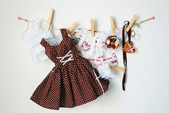Maid Outfit Set available NOW at www.miema-dollhouse.com (Chu-Boo) Tags: house fashion ball japanese miniature cafe doll cookie mami clothes kawaii bjd rement volks maid dollhouse creamy jointed tartlet miema