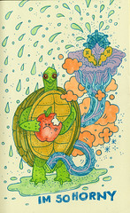 im so horny (jeremy pettis) Tags: moleskine penis sketch im turtle doodle fantasy horny erection doodleday turtleerection turtleboner