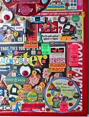 "Christian Montone 2013 ""Safety Design Game"" Detail 2 (Christian Montone) Tags: records art collage kids illustration vintage ads toys artwork graphics assemblage buttons letters vinyl kitsch games ephemera popart 1940s numbers 1950s montage lp planes font santaclaus 1960s 1970s twister 8mm montone singles dials typeface departmentstores midcentury pinback twoguys vintagechristmas vintagetoys mortonsalt korvettes vintagetype wtgrant smackaroo christianmontone nomalights"