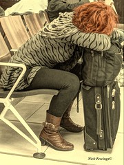 Jet-lag, Pillow-bag, Red-rag - Explore 16th September 2013 #337 (2.5M+ views. www.yoursbehaviourally.com) Tags: life street new travel portrait people urban color colour art face leather sepia composition canon vintage bag photography eos photo interestingness airport cool interesting flickr emotion superb heathrow sleep unique candid character awesome nick perspective creative culture streetphotography streetlife terminal luggage redhead traveller pillow explore few human views cult unusual peeps suitcase incredible iconic processed tone jetlag humans followers facebook behaviour flickrphoto insights 50d janner focuspocus tumblr followings pinterest fewings fewpeeps nickfewings jannerboy