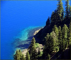 "Crater Lake NP, OR ""Shades of Blue"" 8-28-13p (inkknife_2000 (6.5 million views +)) Tags: usa mountains oregon volcano craters peaks forests craterlakenationalpark dgrahamphoto northamericanationalparks lightrefractionandwatercolor"
