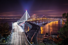 I made a late night run out to The Island last night once I heard that the new San Francisco-Oakland Bay Bridge was open to traffic ahead of schedule. I wasnt the only one with that idea - there were a lot of others out there shooting and I ran into a fe (roadlessco) Tags: sanfrancisco travel night landmark adventure baybridge hdr roadless tumblr joeercoli anvilimage anvillimagecom joeercoliphotography