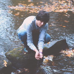 _____ (imJBD) Tags: winter boy summer brown lake cold fall me nature water beautiful leaves self pond rocks stream pretty drip flowing imjbd