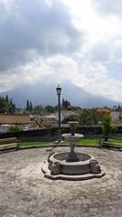 Volcan de Agua in the clouds (sftrajan) Tags: park mountain fountain volcano scenery guatemala peak antigua vulcano volcan vulkan volcn  stratovolcano antiguaguatemala  volcandeagua sacatepequez  laantiguaguatemala