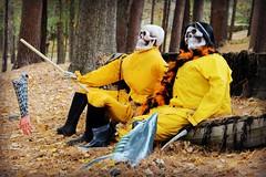 Found a Friend! (Read2me) Tags: halloween creepy scary two yellow fishing pregamewinner skeleton friendlychallenges thechallengefactory gamewinner challengeyouwinner cyunanimous challengeclubwinner superherowinner