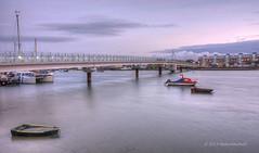 Adur Ferry Bridge (15-19) (Malcolm Bull) Tags: bridge ferry river sussex dusk tone hdr adur include shoreham mapped shorehambysea vision:beach=0506 vision:sunset=0609 vision:outdoor=0913 vision:car=0644 vision:sky=0936 vision:ocean=0712 vision:clouds=0695 20131208dusk00156789tonemappededited1web