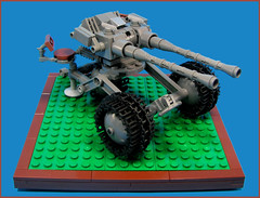 Towed artillery (Karf Oohlu) Tags: gun lego artillery moc mountedgun towedartillery vision:text=0505 vision:outdoor=0977