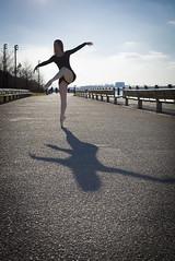 Street Ballet (Polly Anne) Tags: street new york nyc ballet brooklyn ballerina shadows seleccionar