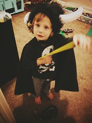 356 of 365 - Little Loki ([ the black star ]) Tags: boy 3 playing costume kid toddler creative dressup things kingston stuff loki imagination adventures shrug preschooler 356365 theblackstar threehundredfiftysix thelittlemister uploaded:by=flickrmobile brooklynfilter flickriosapp:filter=brooklyn