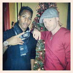 """Feels good to relax and celebrate with friends and family such as @ambitionthekid - when we ain't rockin mics, we sing the #nsync christmas album in my mother's kitchen every Christmas Eve. #friends #family #christmas #urbanrockxmas #ambition #jessemader • <a style=""""font-size:0.8em;"""" href=""""https://www.flickr.com/photos/62467064@N06/11541523766/"""" target=""""_blank"""">View on Flickr</a>"""