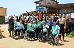 Surf Inclusivo (Teletón) Tags: beach wheelchair surfing disabled armless amputee noarms legless armlesschild inclusivesurfing doubleaboveelbowamputee doubleabovekneeamputee