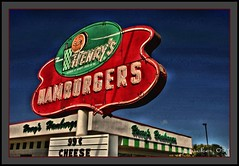 Henry's Hamburgers (the Gallopping Geezer '5.0' million + views....) Tags: food building sign canon restaurant forsale drink michigan ad stjoseph structure hamburgers business burgers dine joint geezer henrys 2010 corel advertise