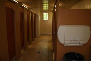 Toilettes du bloc sanitaire