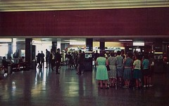Interior of Hopkins Airport, Cleveland, Ohio (Guy Clinch) Tags: airport postcard