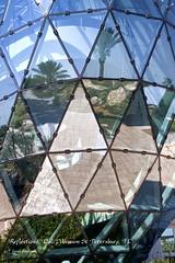 Dali Reflections (walla2chick) Tags: trees windows usa museum reflections palms stpetersburg outside florida patio dali dalimuseum topazadjust 4810ta