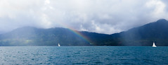 IMG_1453 (jaglazier) Tags: trees mountains clouds boats islands landscapes seascapes charlotte transport january carribean yachts rainbows sailboats forests volcanos deciduoustrees 2014 1614 saintvincent stvincentandthegrenadines saintvincentandthegrenadines copyright2014jamesaglazier