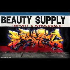 'Beauty Supply' from the streets of #Wynwood #Miami. #wallkandy #graffiti #streetart #art #painting #fb #f #t (Photos © Ian Cox - Wallkandy.net) Tags: street streetart art canon ian photography graffiti gallery document cox wallkandy
