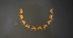 Gold necklace from Grave Circle A at Mycenae, Greece
