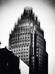 Bank of America Tower (Joe Architect) Tags: uptowncharlotte noirfilter flickriosapp:filter=noir uploaded:by=flickrmobile 2014 charlotte northcarolina nc favorites yourfavorites bw joesgreatesthits myfavorites