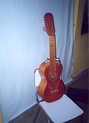 Guitarrón Chileno, compuesto por 25 cuerdas.