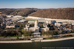 WV State Capitol (Scriptunas Images) Tags: spring aerial charleston capitol westvirginia